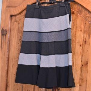 BCBG striped a line skirt
